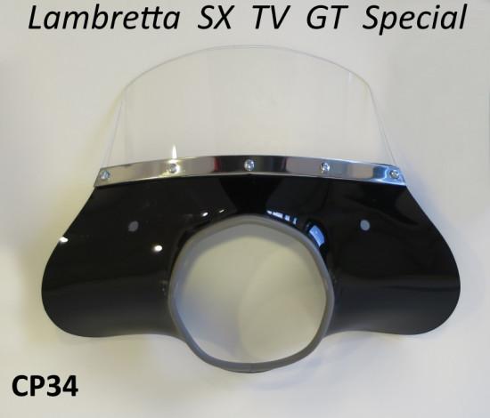 Cupolino nero modello 'Classico' Lambretta SX + TV3 + Special + Serveta