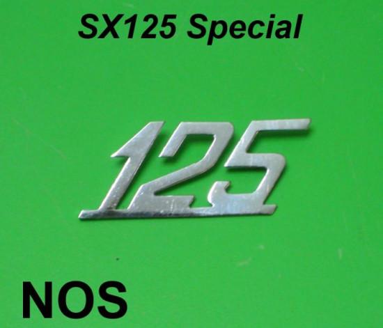 Scritta '125' originale NOS per scudo Lambretta Special 125