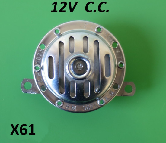 Clacson 12V CC Lambretta S1 + S2 + S3 + SX + DL
