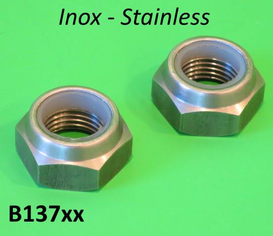 Dadi perno motore Inox Lambretta S1 + S2 + S3 + SX + DL
