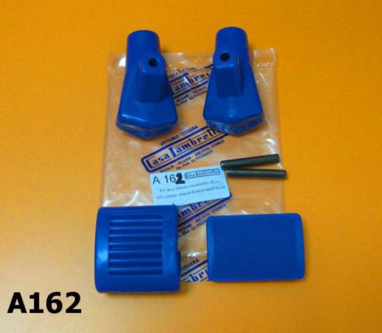 Kit gommini blu pedale avviamento, freno e cavalletto per Lambretta S1 S2 S3 DL