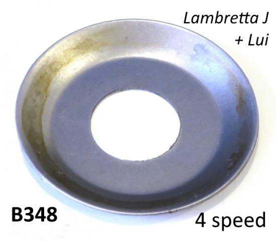 Rasamento scodellino speciale per pignone anteriore Lambretta J + Lui (modelli a 4 marce)