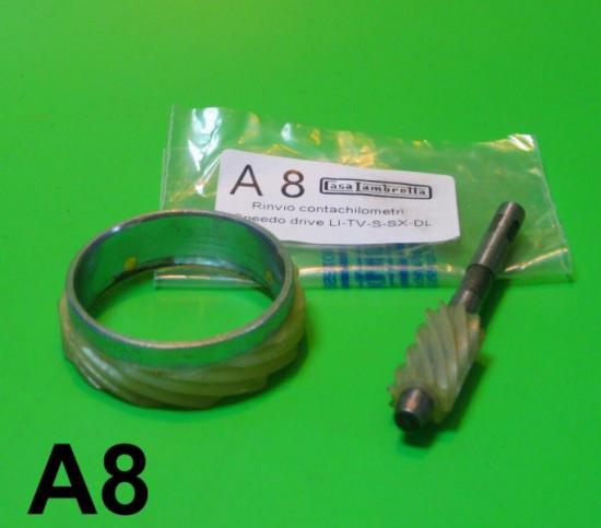 Rinvio contachilometri al mozzo anteriore per Lambretta S1 S2 S3 DL Serveta SX TV Special