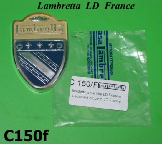 Scudetto anteriore per Lambretta LD Francese