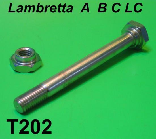 Perno cavalletto con dado Lambretta A + B + C + LC