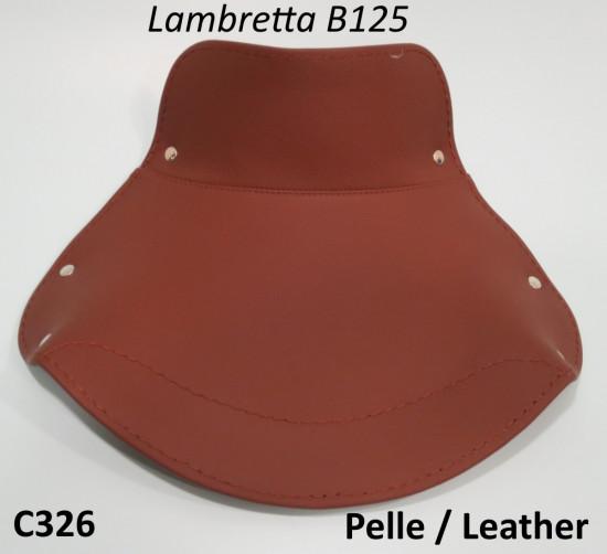 Copertina anteriore in vera pelle marrone Lambretta B
