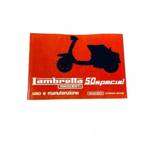 Libretto uso e manutenzione Lambretta J50 Special