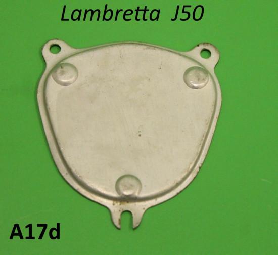 Piastra fissaggio tappo per foro contachilometri Lambretta J50