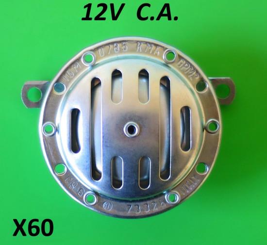 Clacson 12V CA Lambretta S1 + S2 + S3 + SX + DL
