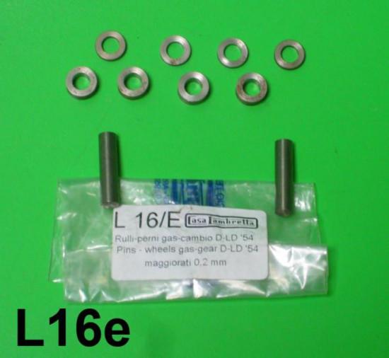 Set rulli/perni maggiorati 0,1 mm