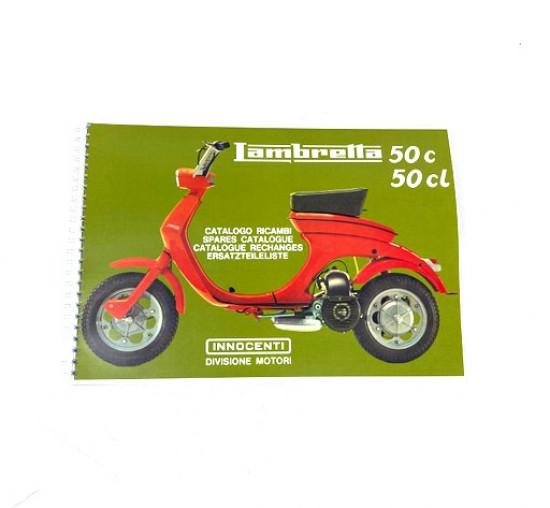 Catalogo parti di ricambio Lambretta Lui50 + Lui75