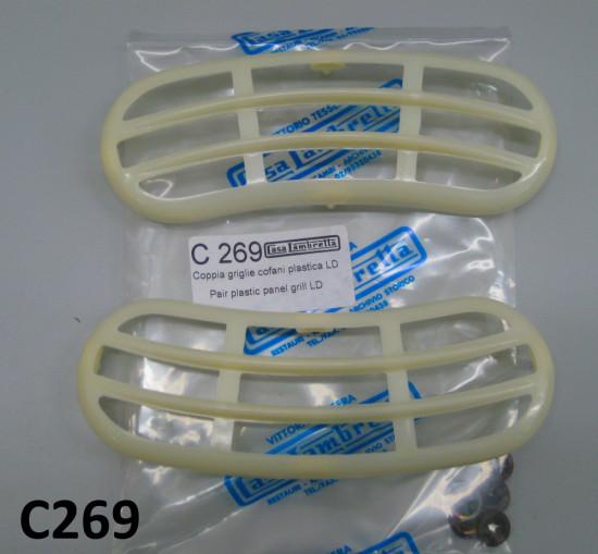 Griglie in plastica cofani laterali Lambretta LD
