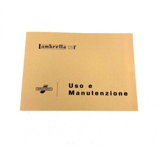 Libretto 'Uso e Manutenzione' Lambretta F