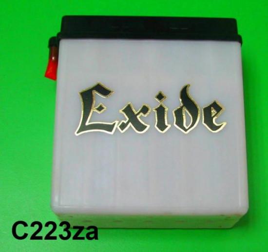 Coppia di adesivi 'Exide' per batteria