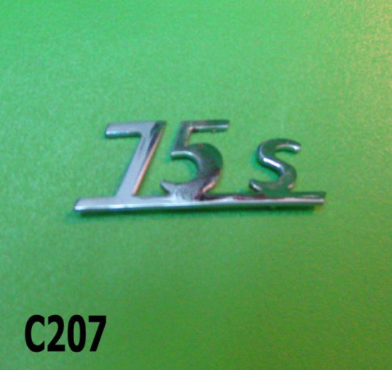 Scritta '75S' per Lambretta Lui Vega 75cc