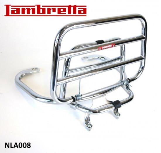 Portapacchi posteriore cromato (modello verticale) per Lambretta V-Special