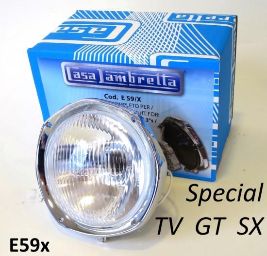 Gruppo ottico completo Casa Lambretta per Lambretta Special + TV3 + SX