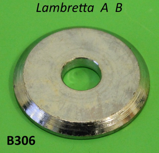 Rondella cromata dado mozzo anteriore Lambretta A + B