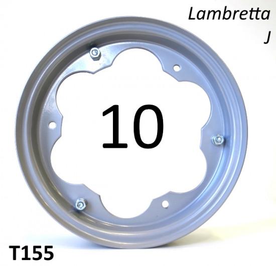 """Cerchio ruota 10"""" pollici per Lambretta J"""