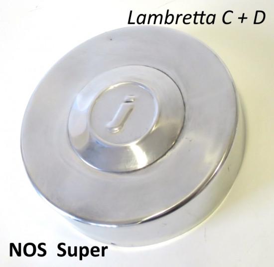 Accessorio coperchio volano originale NOS Super per Lambretta C + D