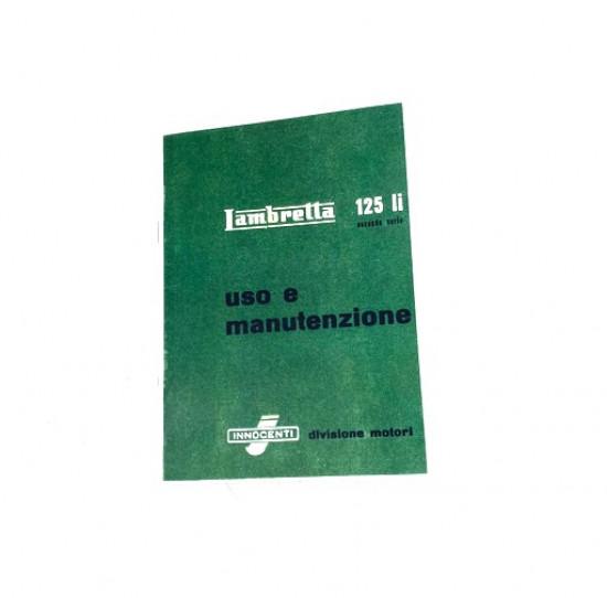 Libretto 'Uso e Manutenzione' Lambretta LI125 S2