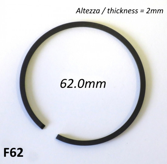 Fascia elastica (segmento) 62.0mm (altezza 2.0mm) tipo originale di alta qualità