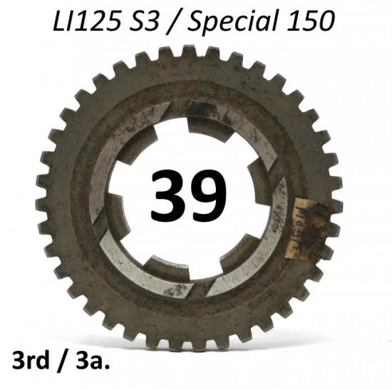Ingranaggio 3a. marcia z39 per Lambretta LI125 (ultima produz.) + Special 150 - Vers. Post Modifica