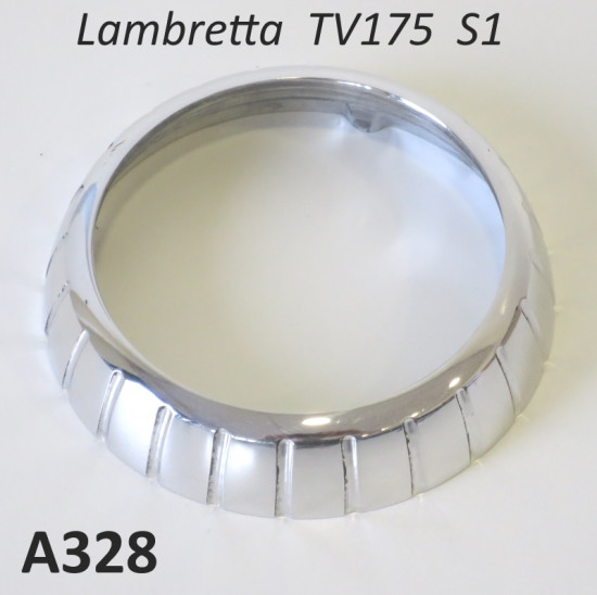 Ghiera cromata per contachilometri per Lambretta TV175 S1