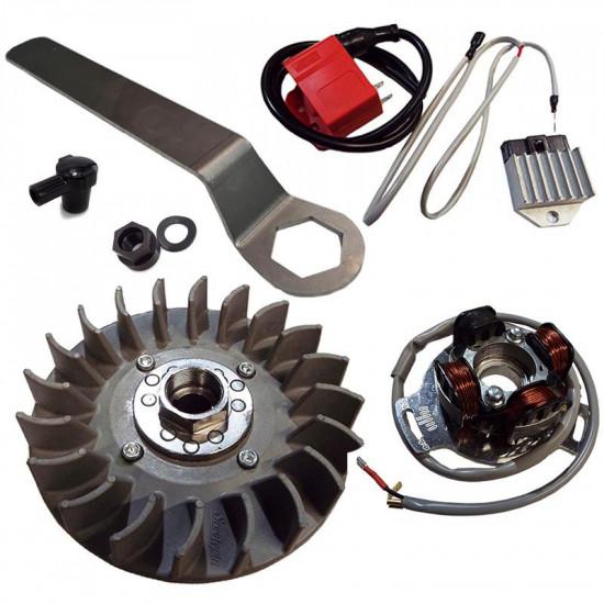 Accensione elettronica Scootopia 12V per Lambretta DL (albero motore a cono grande)