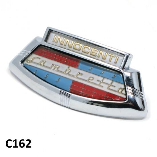 """Scudetto anteriore """"Innocenti"""" in plastica per Lambretta S2 + S3 + TV3 + Special + SX"""