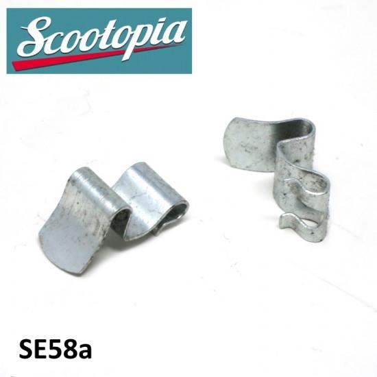 Coppia ganci Scootopia per fanale anteriore Lambretta DL + Lui