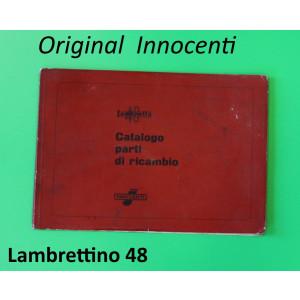 Catalogo ricambi originale Innocenti per Lambrettino 48