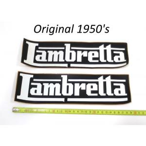 Coppia adesivi Lambretta originali anni '50 per concessionari + venditori