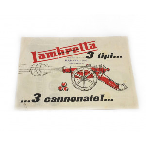 "Brochure originale Lambretta S2 ""3 tipi di cannonate"""