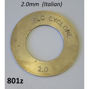 Spessore rasamento 2,0mm per 1a. marcia Lambretta S1 + S2 + S3 + TV3 + SX + DL