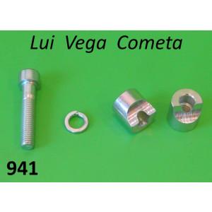 Morsetto completo manubrio Lambretta Lui 50C/CL + 75S/SL