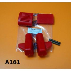 Kit gommini rossi pedale avviamento, freno e cavalletto per Lambretta S1 S2 S3 DL