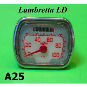 Contakm rettangolare nuovo Lambretta LD