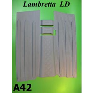 Tappetino in gomma grigio Lambretta LD