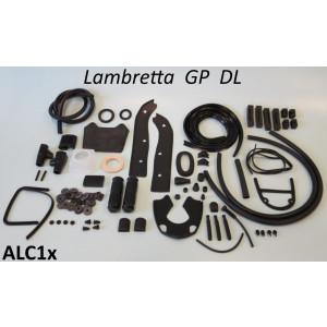 Kit profili in gomma completo Casa Lambretta, colore Nero, per Lambretta DL