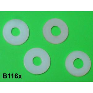 Set 4 x rondelle in nylon per sella