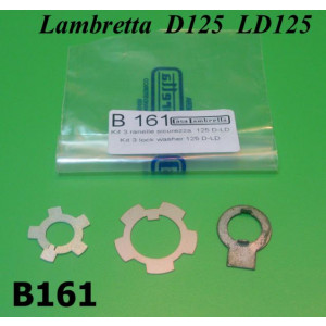 Kit 3 x ranelle blocca dadi motore per Lambretta D + LD125