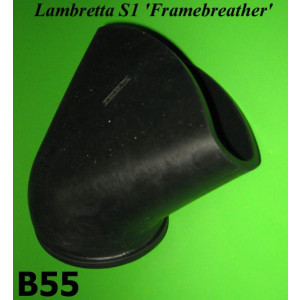 Presa d'aria conica post. in gomma per Lambretta S1 Framebreather