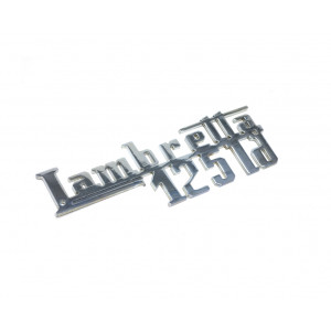 Scritta cromata scudo Lambretta 125 LD 1957