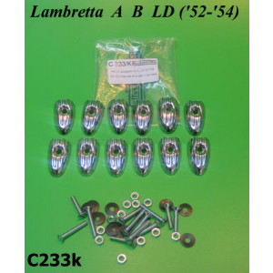 Kit puntalini C233 + viti fissaggio per Lambretta A + B + LD