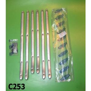 Set 6 listelli poggiapiedi alluminio