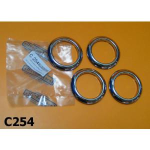 Kit 4 anelli cromati per cofani per Lambretta LC125