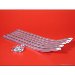 Kit listelli pedana in alluminio Lambretta S1 + S2