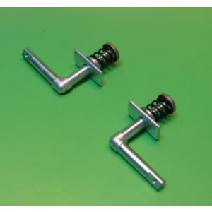 Coppia meccanismi interni per maniglie cofani / fiancate Lambretta S1 + S2