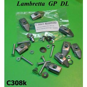 Kit 8 puntalini C308 + set viti fissaggio per Lambretta GP DL